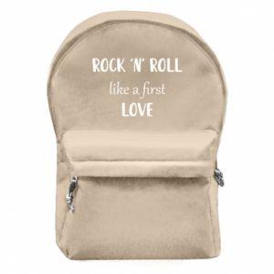 Plecak z przednią kieszenią Rock 'n' roll like a first love