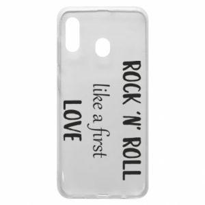 Etui na Samsung A20 Rock 'n' roll like a first love