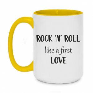 Kubek dwukolorowy 450ml Rock 'n' roll like a first love