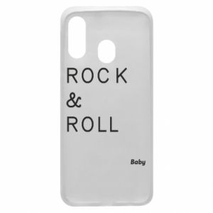 Phone case for Samsung A40 Rock & Roll Baby