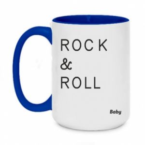 Two-toned mug 450ml Rock & Roll Baby