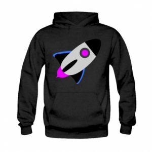 Bluza z kapturem dziecięca Rocket in space