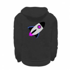 Bluza na zamek dziecięca Rocket in space