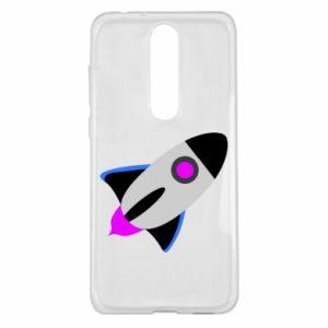 Etui na Nokia 5.1 Plus Rocket in space