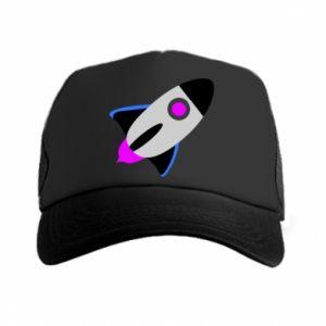 Czapka trucker Rocket in space