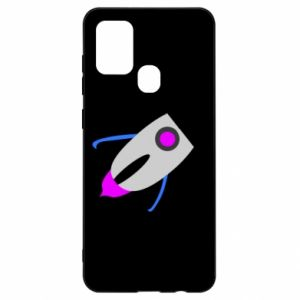Etui na Samsung A21s Rocket in space