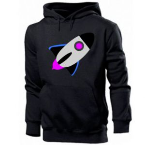 Men's hoodie Rocket in space