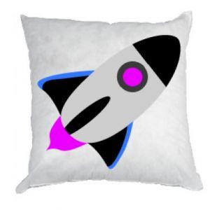 Poduszka Rocket in space