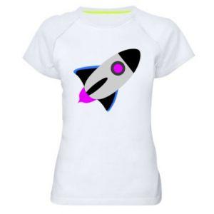 Koszulka sportowa damska Rocket in space