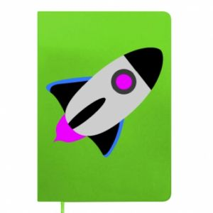 Notepad Rocket in space