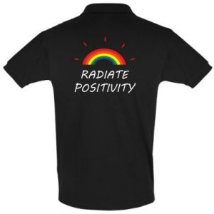 Koszulka Polo Napis: radiate positivity