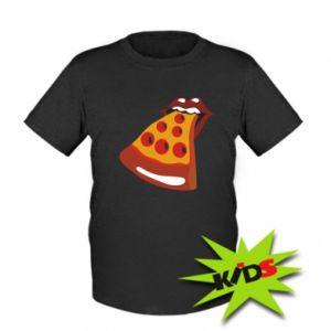 Kids T-shirt Rolling pizza