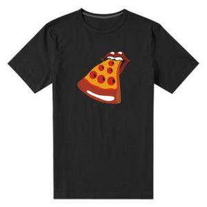 Men's premium t-shirt Rolling pizza