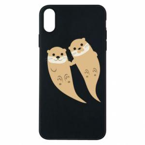 Etui na iPhone Xs Max Romantic Otters