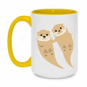Kubek dwukolorowy 450ml Romantic Otters