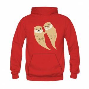 Bluza z kapturem dziecięca Romantic Otters