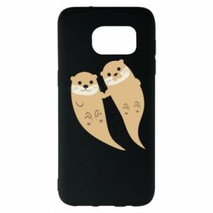 Etui na Samsung S7 EDGE Romantic Otters