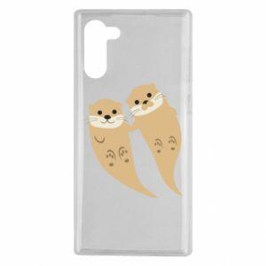 Etui na Samsung Note 10 Romantic Otters