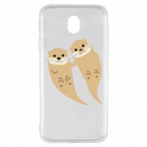 Etui na Samsung J7 2017 Romantic Otters
