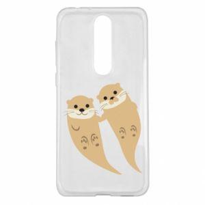 Etui na Nokia 5.1 Plus Romantic Otters