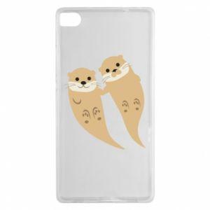 Etui na Huawei P8 Romantic Otters