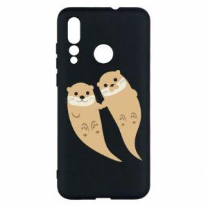 Etui na Huawei Nova 4 Romantic Otters
