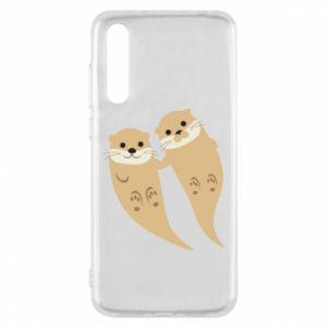 Etui na Huawei P20 Pro Romantic Otters