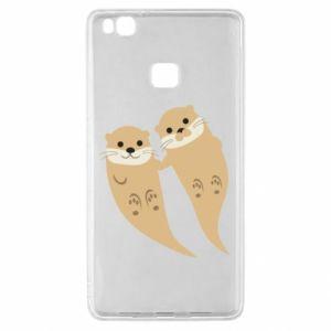 Etui na Huawei P9 Lite Romantic Otters