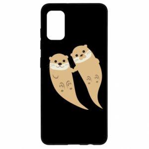 Etui na Samsung A41 Romantic Otters