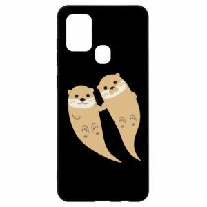 Etui na Samsung A21s Romantic Otters