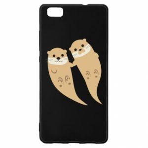 Etui na Huawei P 8 Lite Romantic Otters