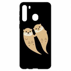 Etui na Samsung A21 Romantic Otters