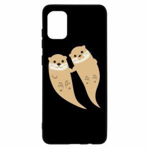 Etui na Samsung A31 Romantic Otters