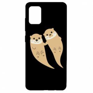 Etui na Samsung A51 Romantic Otters