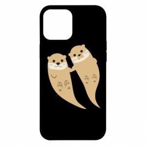 Etui na iPhone 12 Pro Max Romantic Otters