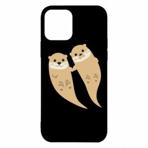 Etui na iPhone 12/12 Pro Romantic Otters