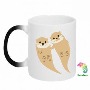 Kubek-magiczny Romantic Otters