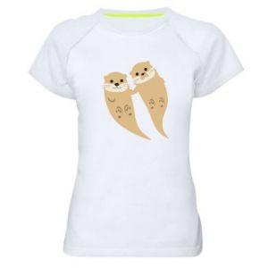 Koszulka sportowa damska Romantic Otters