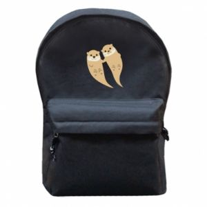 Plecak z przednią kieszenią Romantic Otters