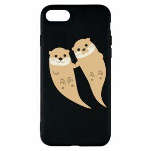 Etui na iPhone 7 Romantic Otters