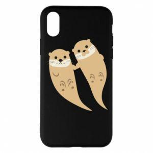 Etui na iPhone X/Xs Romantic Otters