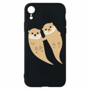 Etui na iPhone XR Romantic Otters