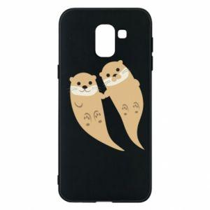 Etui na Samsung J6 Romantic Otters