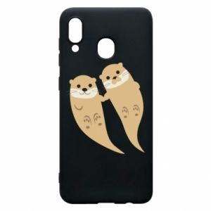 Etui na Samsung A20 Romantic Otters