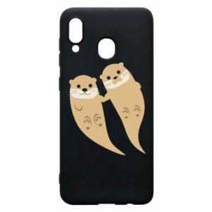 Etui na Samsung A30 Romantic Otters