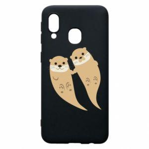 Etui na Samsung A40 Romantic Otters