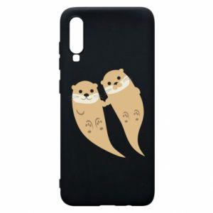 Etui na Samsung A70 Romantic Otters