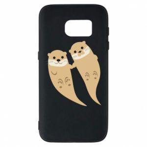 Etui na Samsung S7 Romantic Otters