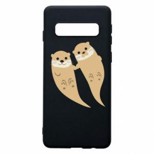 Etui na Samsung S10 Romantic Otters