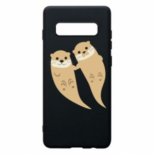 Etui na Samsung S10+ Romantic Otters